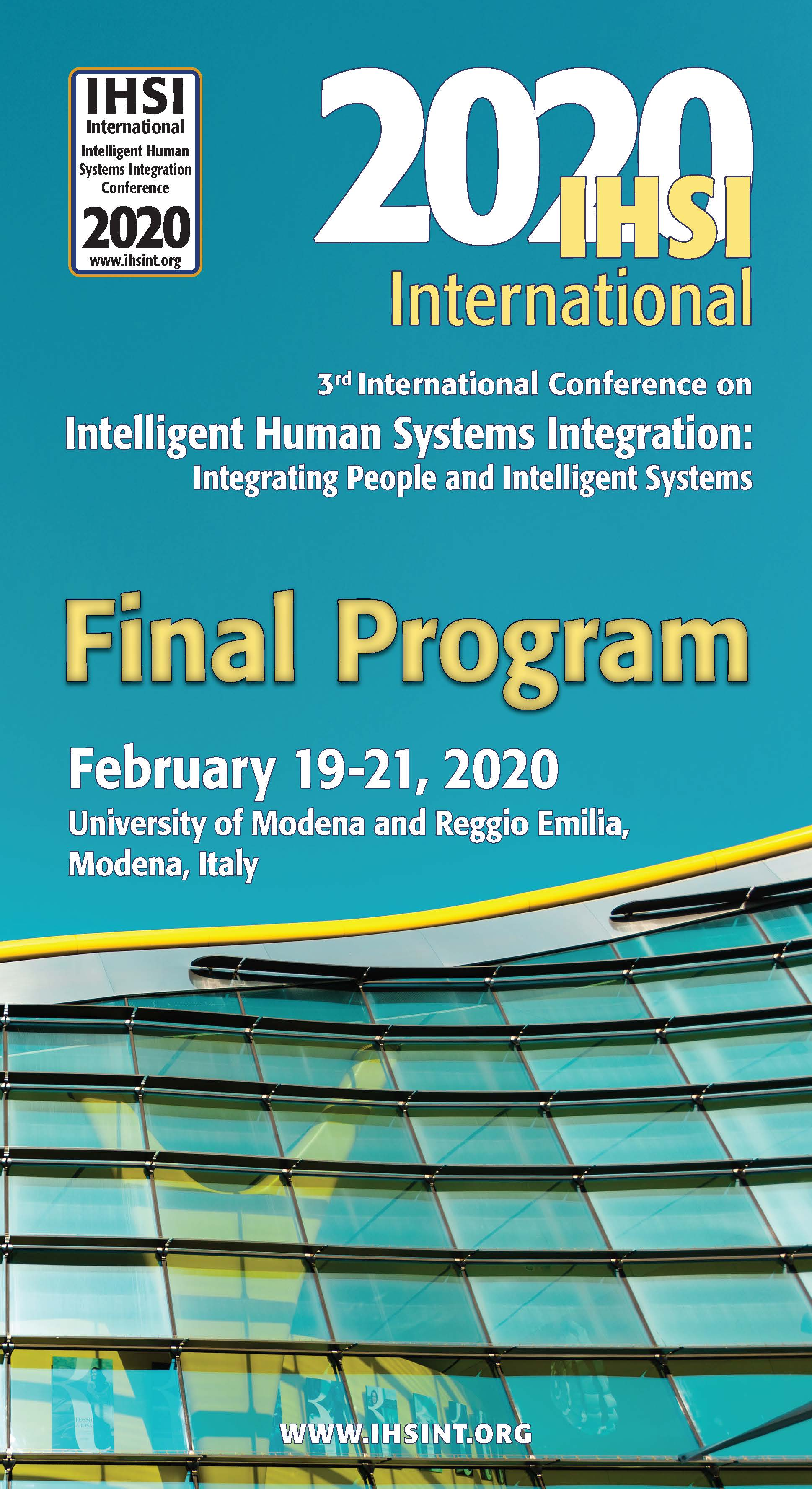 International Conference On Human Systems Engineering And Design